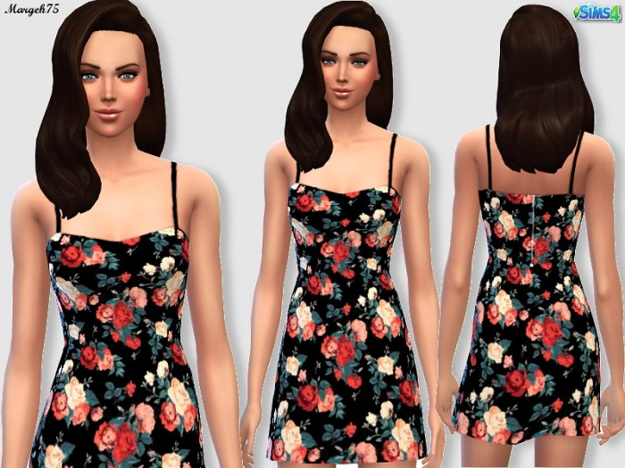 Sims 3 Addictions: Floral Dress by Margeh75