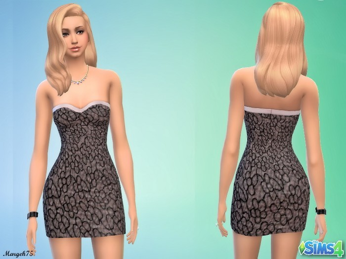 Sims 3 Addictions: Flower lace sleeveless mini dress by Margeh75