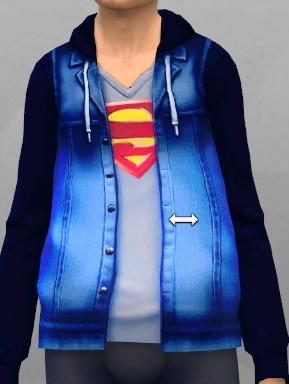 KitOnlyHuman: Denim Jacket Superman
