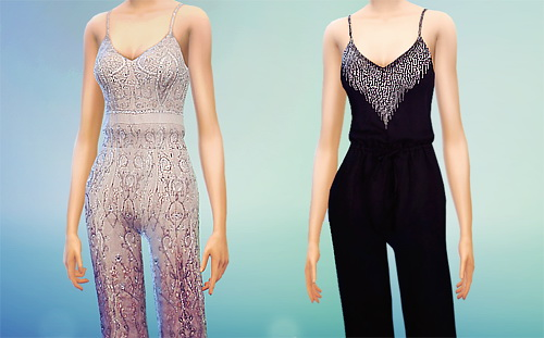 MissFortune Sims: Elegant Dresses   Jumpsuits   Sporty Dresses