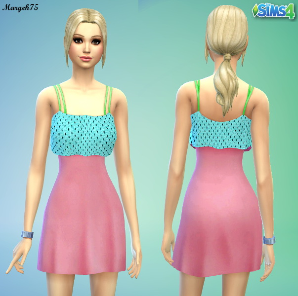 Sims 3 Addictions: Cute summer dress by Margeh75