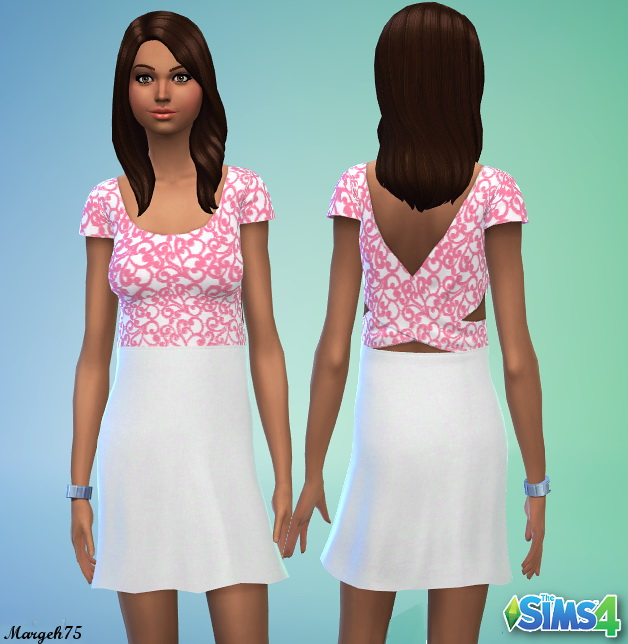 Sims 3 Addictions: Pink Dress by Margeh75