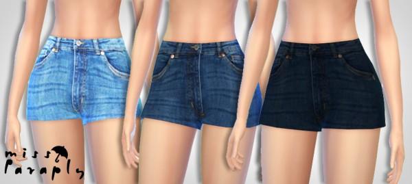 Miss Paraply: Highwaist jeans shorts