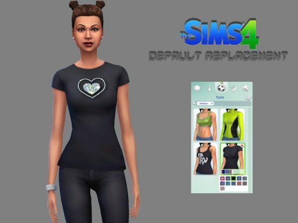 Marty P: Black shiny Heart Shirt