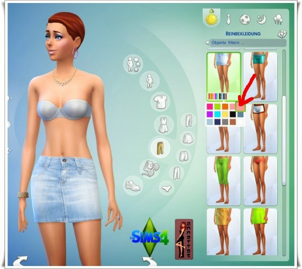 Annettssims4welt: Shirt & Jeans Skirt