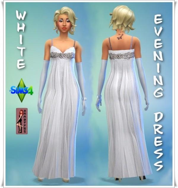 Annettssims4welt: White Evening Dress