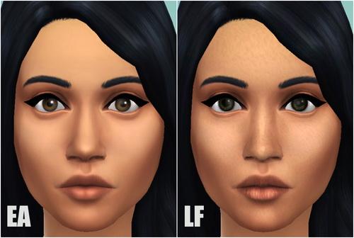 Lightfire Simblr: Default Face Skin V2