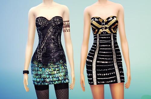 MissFortune Sims: Tight Dresses , Mermaid Dresses and Blazers