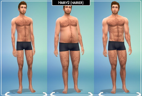 Lumia Lover Sims: Bodyhair version 2