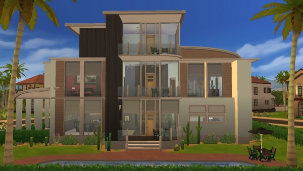 Mod The Sims Modern Oasis Modern Family Home By Rayanstar