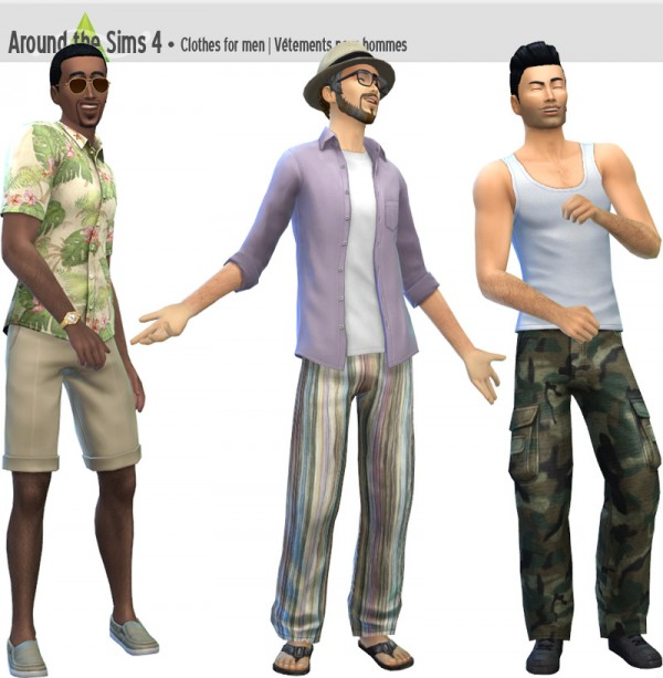 Around The Sims 4: Clothes for males