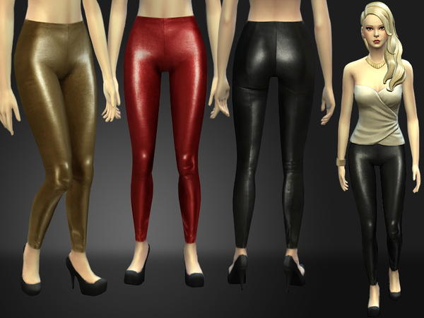 The Sims Resource: Stretch Leather Skinny Pants by Nia