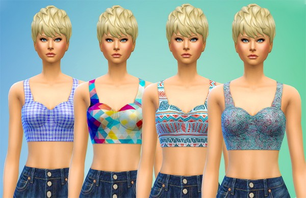 Seventhecho: Cropped Bustier Recolors by Seventhecho