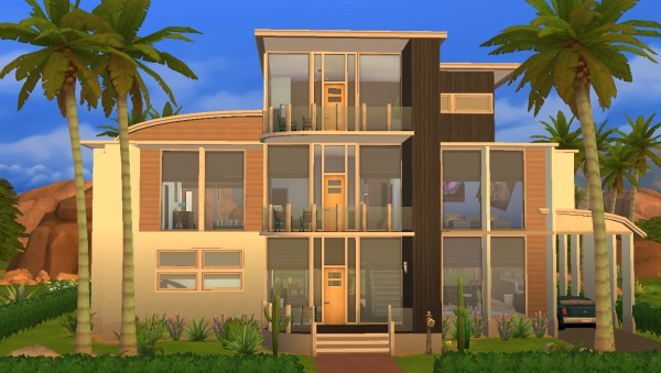 Mod The Sims: Modern Oasis  Modern Family Home by RayanStar