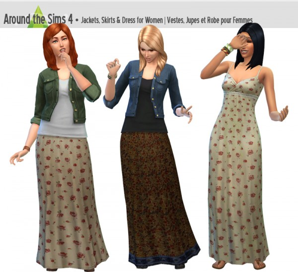 Around The Sims 4: Jackets, Skirts and dress