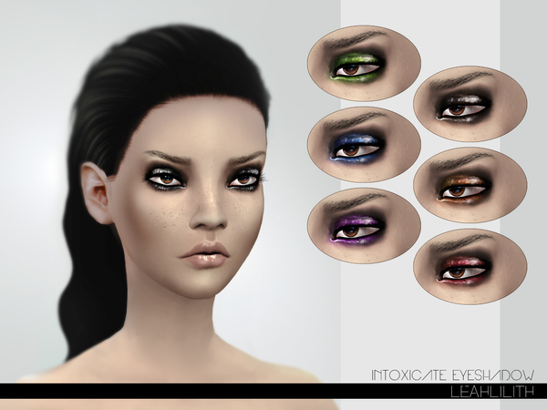 The Sims Resource: Intoxicate Eyeshadow by LeahLillith
