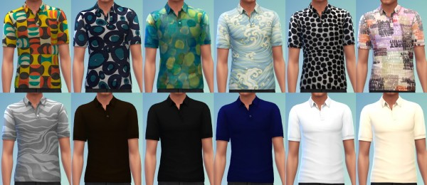 The simsperience: 12 Polo Shirts
