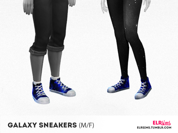 The Sims Resource: Galaxy sneakers by ELRSims