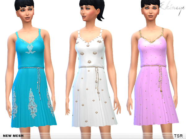 The Sims Resource: Embellished Dresses   Set2  by Ekinege