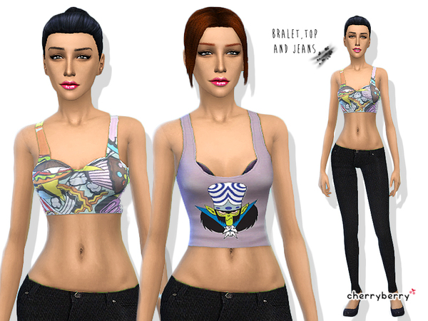 The Sims Resource: Sugar Free   Clothing set by Cherry Berry Sim