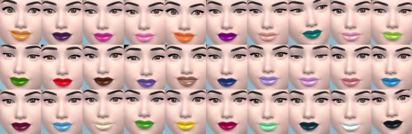 The simsperience: 30 Lipsticks Overlays