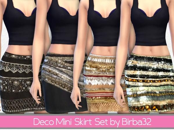 The Sims Resource: Deco mini skirts set by Birba32