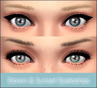 Mod The Sims: Dawn & Sunset Eyelashes by Vampire aninyosaloh