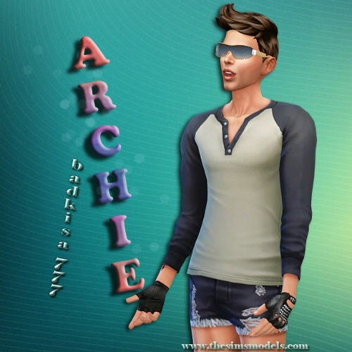The Sims Models: Archie male sims model badkisa777