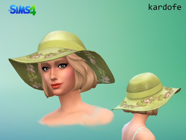 The Sims Resource: Sun Hat recolor by Kardofe