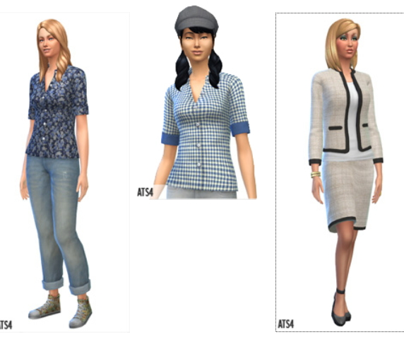 Clothing: Grand Opening Clothes and Shoes from Around The Sims 4