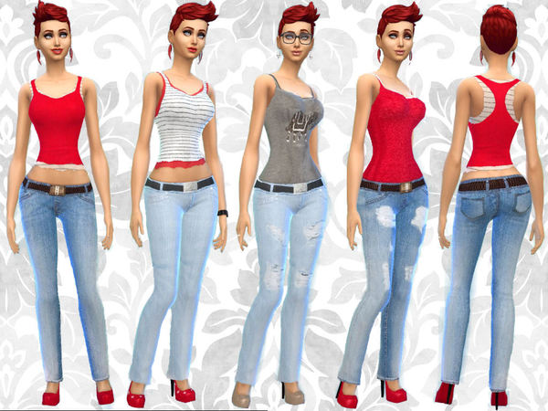 The Sims Resource: Skinny Jeans and Jeggins by Leeah