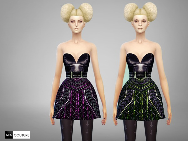 The Sims Resource: Licorice Dress by Miss Fortune