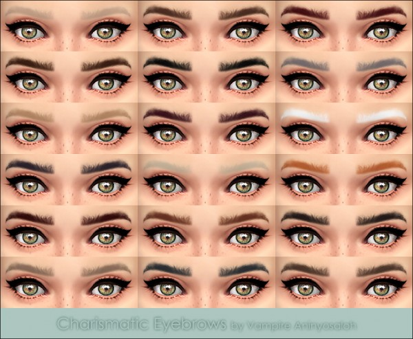 Mod The Sims: Charismatic Eyebrows  by Vampire aninyosaloh