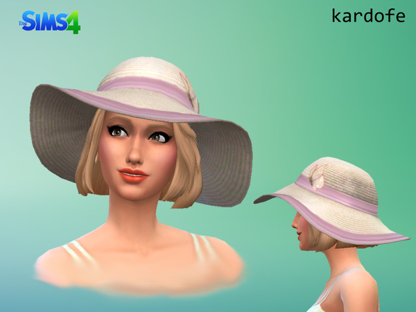 The Sims Resource Sun Hat Recolor By Kardofe Sims 4