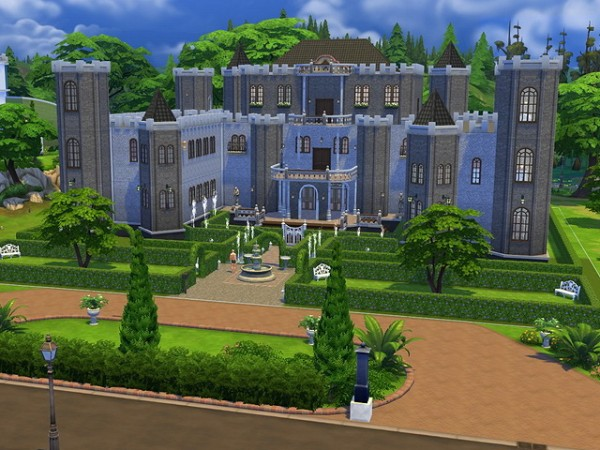 Sims fans old manor residential house sims 4 downloads for Classic house sims 4