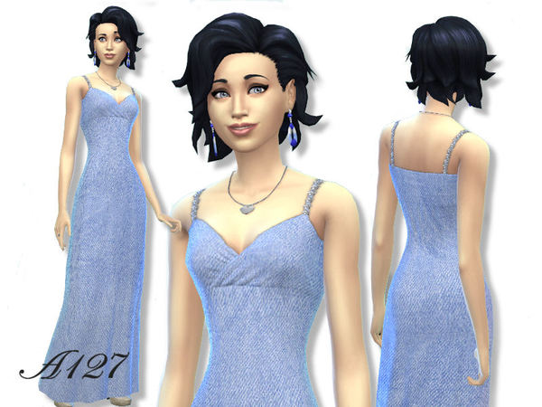 The Sims Resource: Long Dress by Altea127