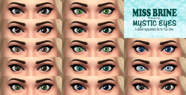 Mod The Sims: Mystic Eyes by mikeys.nonsense