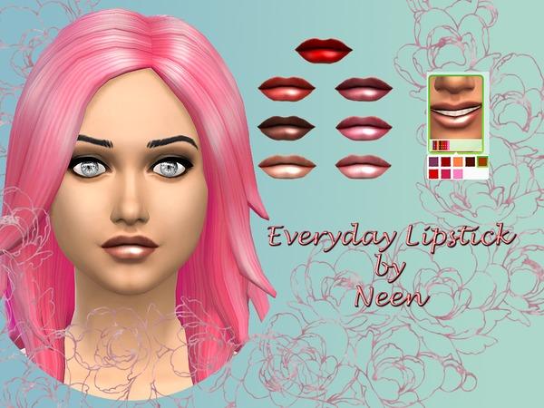 The Sims Resource: Everyday Lipstick by Neenornina