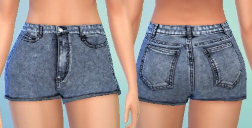 Pure Sims: High Waisted Denim Shorts