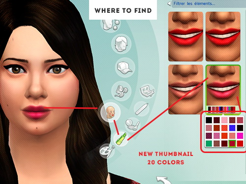 ELR Sims: Heartlips lipstick 20 colors