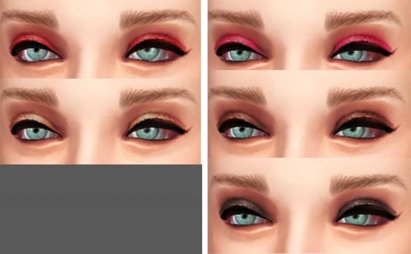 Simmaniacos: Eyeshadow and lipstick