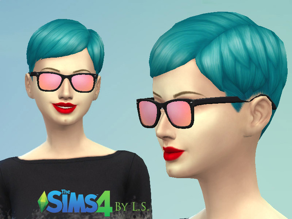 The Sims Resource: Mirrored Sunglasses Set by Lady Shadows
