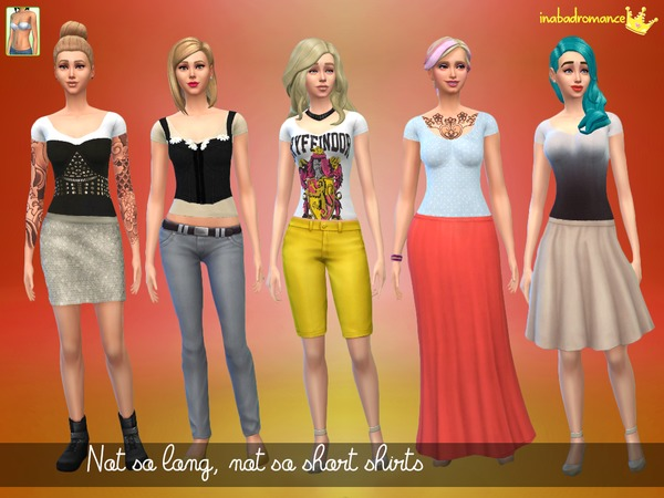 The Sims Resource: Medium shirts by In a bad roamnce