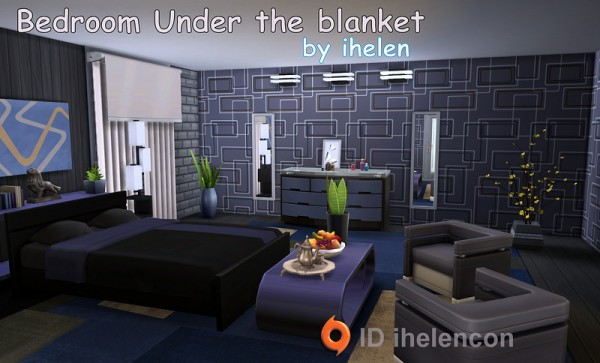 Ihelen sims bedroom blanket sims 4 downloads for Bedroom designs sims 4