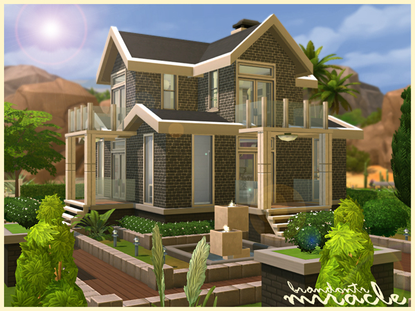 The sims resource miracle house sims 4 downloads for Sims 4 house plans