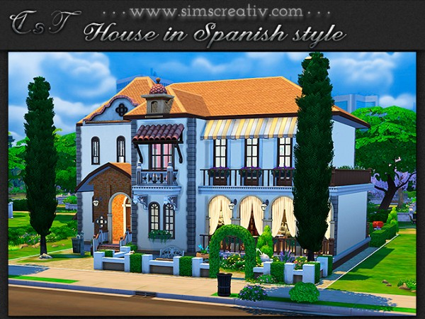 Sims Creativ: House in Spanish style by Tanitas8