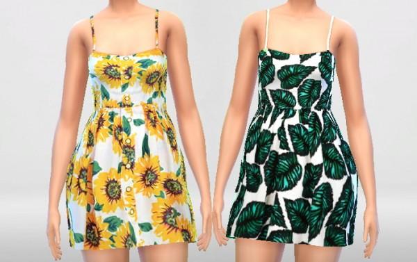 Pure Sims: Sunflower Summer Dress