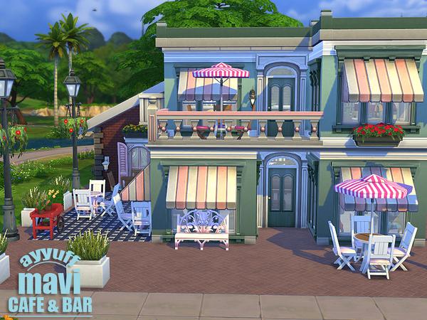The Sims Resource: Mavi Cafe&Bar by Ayyuff