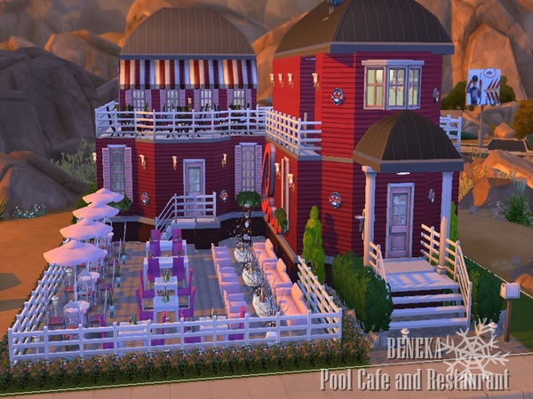 The Sims Resource: Pool Cafe&Restaurant by Beneka