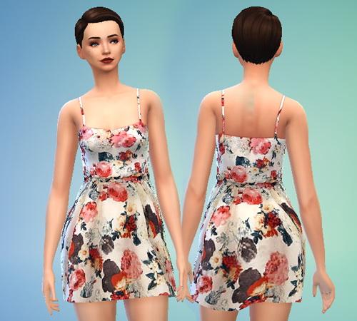Pure Sims: Floral Print Dress